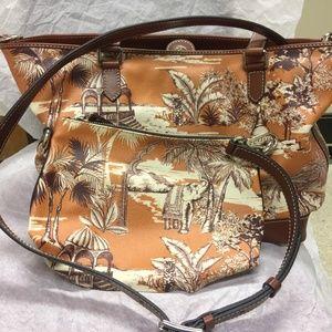 NTW ETRO Island Print/ Paisley Tote Shopping Bag